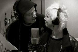 Session d'enregistrement au Studio Attic a̤ Uccle. Isabelle Wéry et Jacques Duvall forment un duo pour le nouvel album de Vitor Hublot.